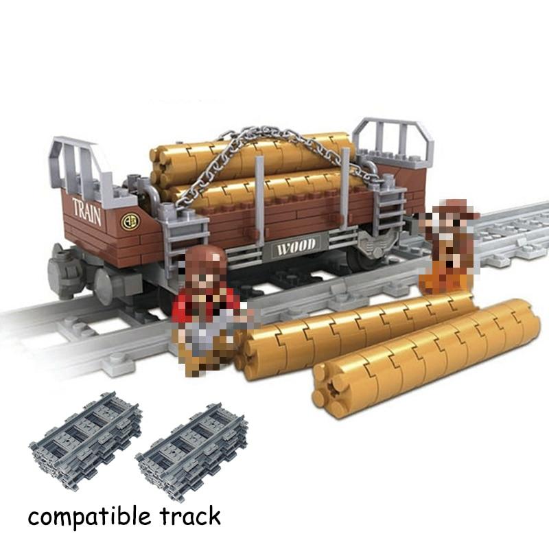 LegoINGlys Train Station City Train Track Rail Way Building Blocks Bricks Toys For Children Christmas Gifts