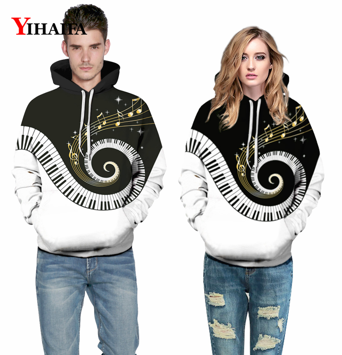 Mens Womens 3D Music Swirl Galaxy Printed Sweatshirt Hip Hop Hoodies Graphic Casual Pullover Fashion Tracksuit Tops in Hoodies amp Sweatshirts from Men 39 s Clothing
