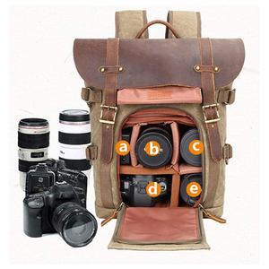 Image 4 - Batik lona dslr câmera mochila foto saco impermeável ao ar livre à prova de riscos para canon nikon sony panasonic fujifilm olympus