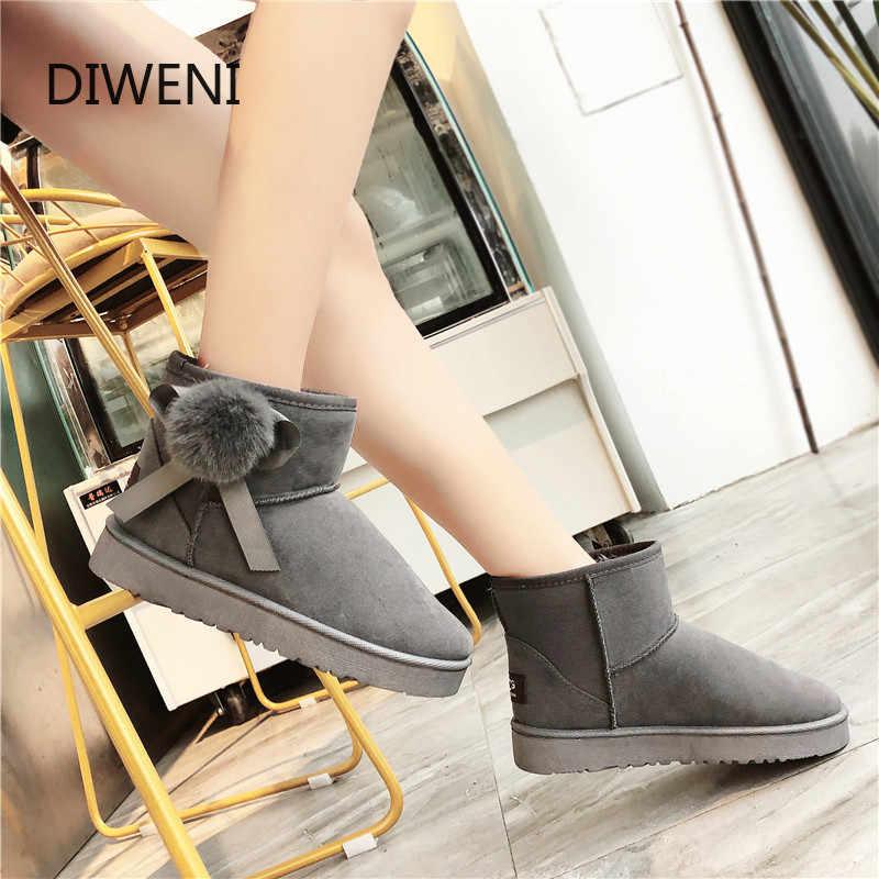 Botas de Invierno para mujer, botas de invierno, botas de piel de ante, botas de nieve para mujer, zapatos de moda para mujer plataforma N263