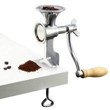 Molinillo de café de acero inoxidable para uso doméstico, trituradora manual de granos secos, semillas de maíz, especias