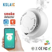 Smoke Detector Wireless Fire Sensor Wifi for Office Home Security Highly Sensitive Alarm Systems Tuya Smart Life Smoke Sensor