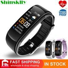 2021 pulseira de fitness medição da pressão arterial pedômetro banda inteligente ouvir monitor de taxa à prova dwaterproof água saúde rastreador relógio