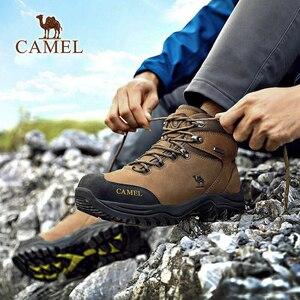 Image 4 - CAMEL hommes femmes haut haut chaussures de randonnée 2019 Durable imperméable anti dérapant en plein air escalade Trekking chaussures bottes tactiques militaires