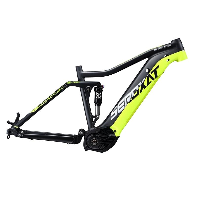 2019 E BIKE 29ER motor bike frmae suspension frame aluminium alloy cross country electric frames shock bicycle downhill frame