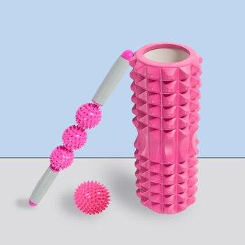 Fitness Pilates Foam Roller Blocks Suit Yoga Column Massage Relax Ball Yoga Stick For Back Waist arm Leg Foot Massage Trainer 1