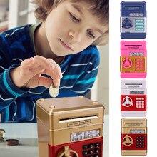 Hucha electrónica cajero automático de la contraseña de la caja de dinero efectivo hucha para ahorro de monedas Banco depósito automático caja de regalo de los niños Dropshipping. Exclusivo.