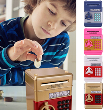 Electronic Piggy Bank ATM Password Money Box Cash Coins Saving Box ATM Bank Automatic Deposit Safe Box Kids Gift Dropshipping