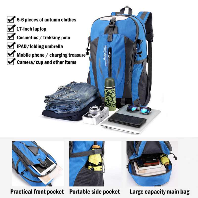 Ransel Tahan Air Tas Pria Hiking Perjalanan Luar Ruangan Pria Laptop Notebook Ransel Wanita Pencurian Olahraga Tas Mochila Feminina