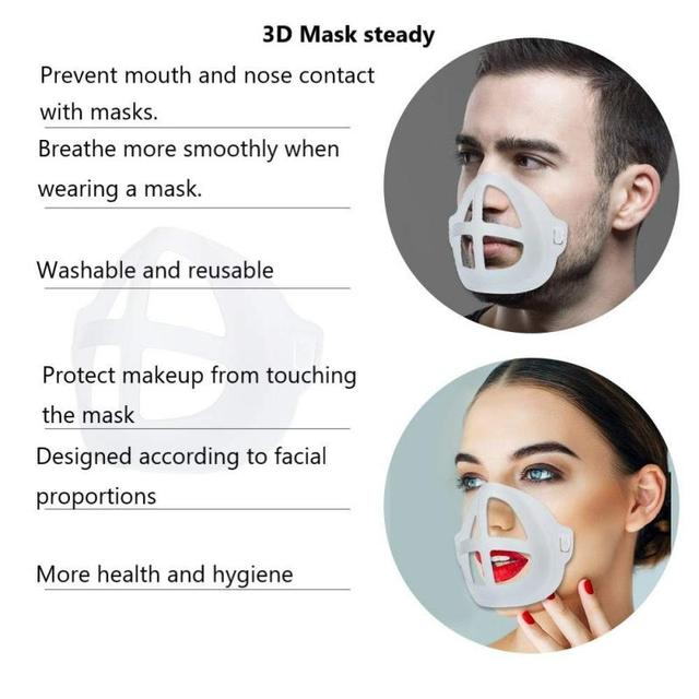 5pcs Breathable Lipstick Stand Breathable Breathing Space Increase Nose 3D Mask Bracket 6