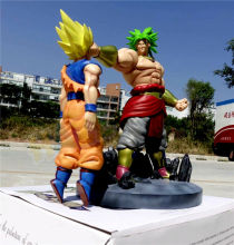 Dragon Ball Z Super Saiyan Broli VS Goku Painted PVC Figure Statue Model Collection Anime Figure Toys Doll 38cm Gifts
