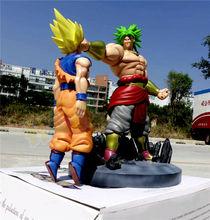 Dragon Ball Z Super Saiyan Broli VS Goku Painted PVC Figure Statue Model Collection Anime Figure Toys Doll 38cm Gifts