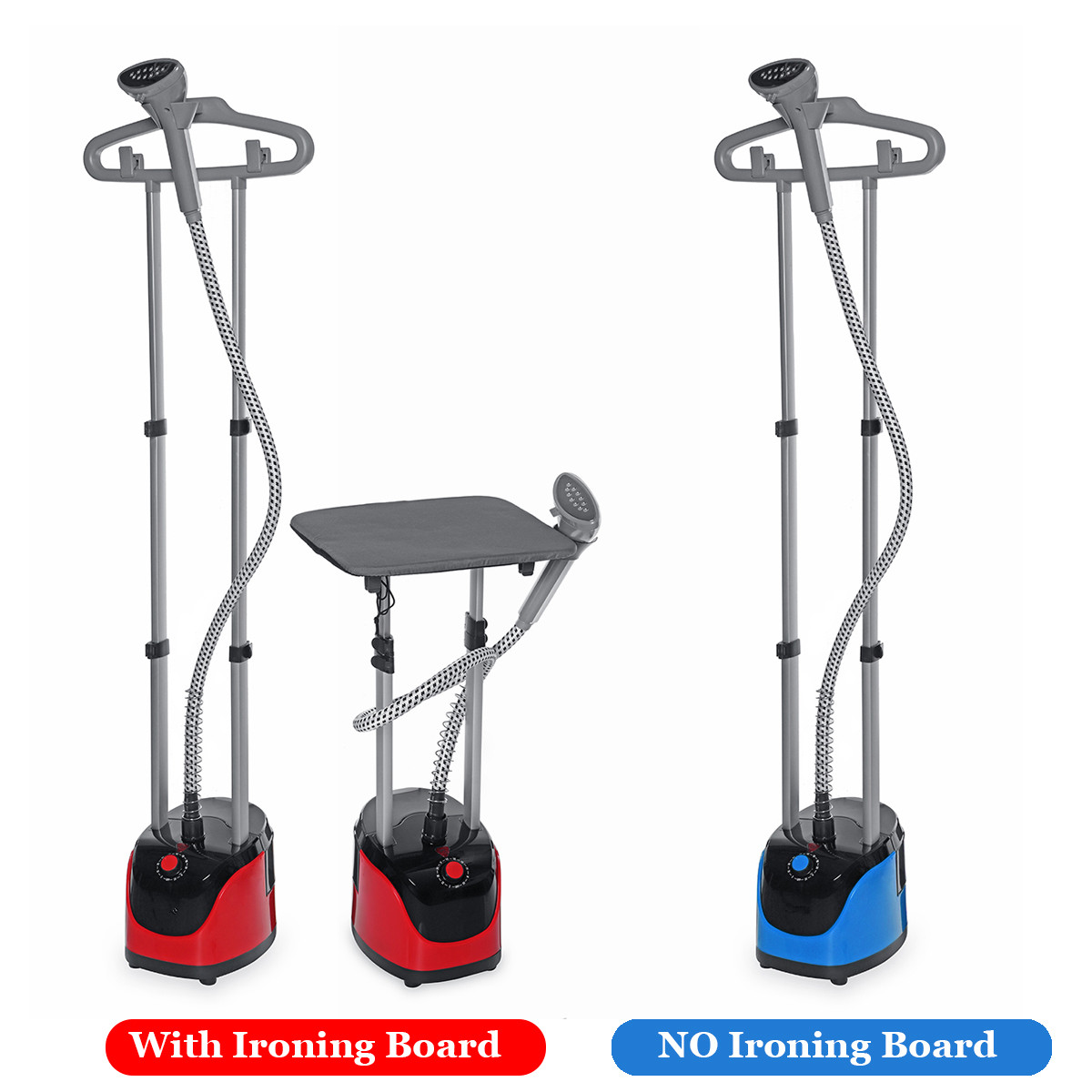 Double Pole Garment Steamers 220V 1800W Household Clothes Steamer Iron Machine 11 Gears Steam 11-hole Steam Injection