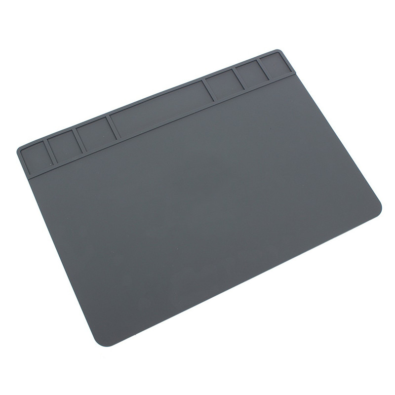 490x350x5mm Heat Insulation Silicone Pad Desk Mat Heat-resistant Maintenance Platform For BGA Soldering Phone PC Repair Station