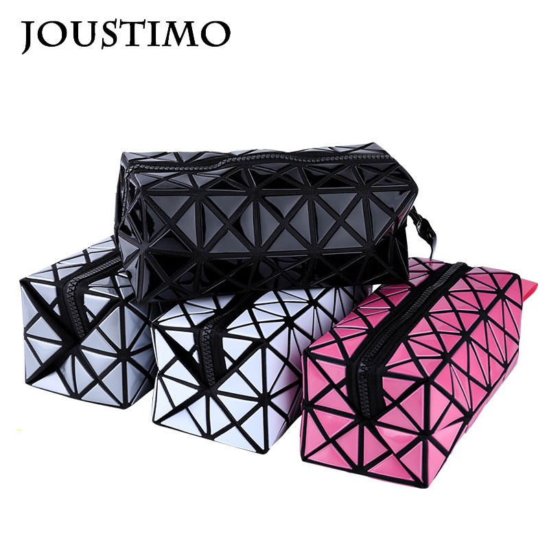 Women Clutch Bags Leather Handbag Fashion Geometric Plaid Folded Flap Purses Casual Long Wallet Evening Makeup Bags For Ladies