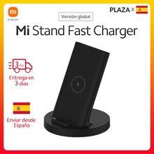 Xiaomi – chargeur sans fil Vertical Mi 20W Max, charge rapide Qi, support Compatible pour Mi 10 pour iPhone Samsung, Version globale