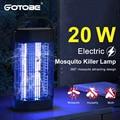 20 Вт UVA противомоскитная Лампа Электрическая ловушка для комаров, лампа 110V ~ 220V Fly Ловушка для комаров мухобойка для дворе патио дома