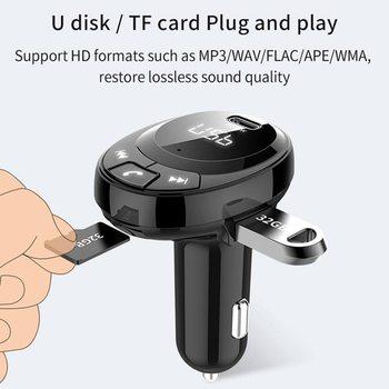 BT09 BT10 BT21 E5 T66 zestaw samochodowy odtwarzacz MP3 nadajnik FM Auto AUX bezprzewodowy samochód Modulator Radio USB ładowarka samochodowa pilot tanie i dobre opinie Weigav CN (pochodzenie) Plastic Nadajniki fm 80gg Bluetooth Car Kit