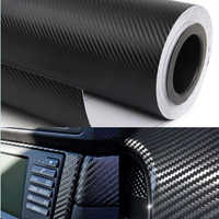 Car Styling Car Sticker 200X50cm 3D 4D Carbon Fiber Vinyl Film 3M Waterproof DIY Motorcycle Auto Accessories Stickers
