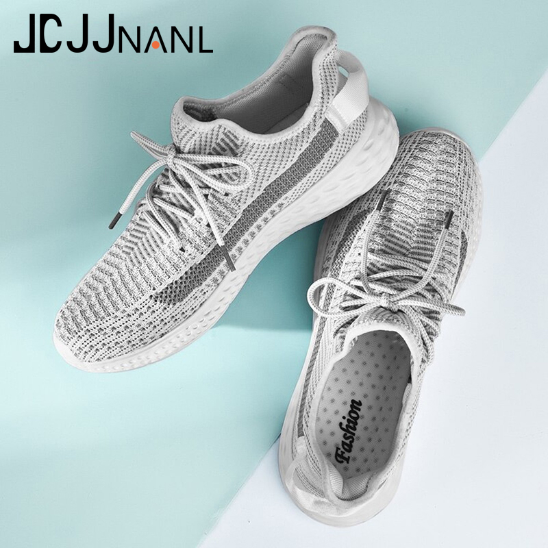 Promo JCJJNANL New Ultralight Breathable Shoes Man Summer Comfortable Men Sneakers Adult Male Tennis Trainers Shoes Big Size 39-48