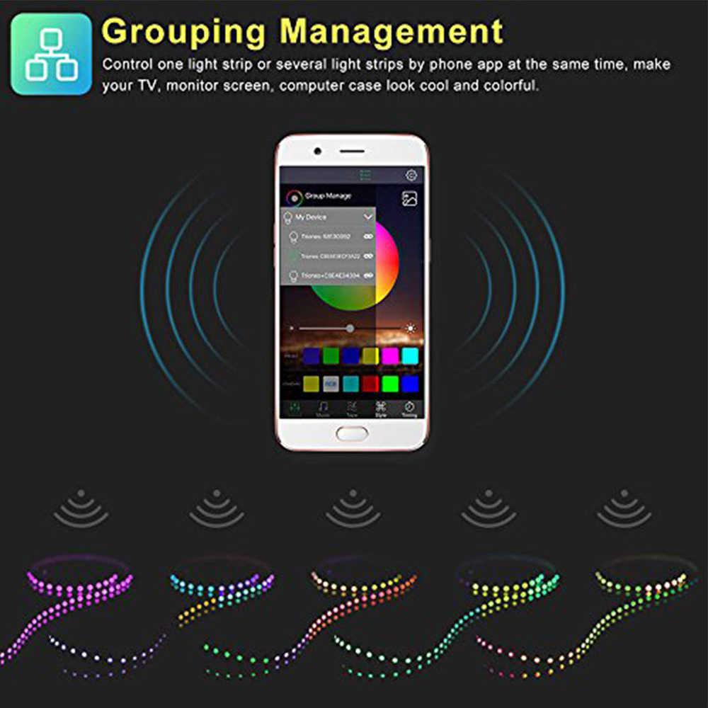 Mini USB strip controller Bluetooth APP Smart RGB USB Colorful Sync to Music & Timer Controller for 5V RGB LED Strip Light