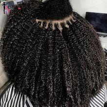 3B 3C Kinky Curly I Tip Microlinks Human Hair Extensions Brazilian Virgin Hair Weave Bundles I Tip Hair Extensions Ever Beauty