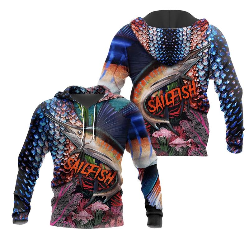 PLstar Cosmos New Fisherman fisher Fishing Art Harajuku casual Tracksuit Funny 3D Print Hoodies/pullover/Jacket/Men Women-57