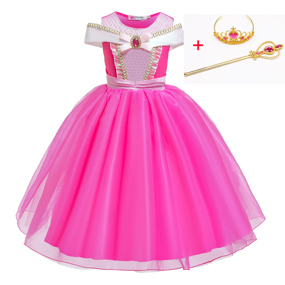 Image 2 - Cosplay Princess Belle Girl Dress For Halloween Party Drama Prom Christmas Costume Kids Clothes Beauty and The BeastGirls Costumes   -
