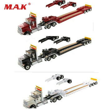 For Boys Collection Gifts 1/50  Scale International HX520 Day Cab Tandem Tractor With XL 120 Lowboy Trailer Model
