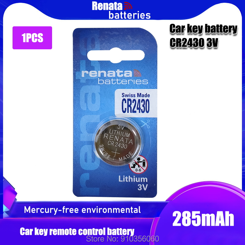 1 шт./упак. Рената CR2430 аккумулятора кнопочного типа DL2430 BR2430 ячейки литий Батарея 3V CR 2430 для мобильного часо-Электронная игрушка пульт дистанц...