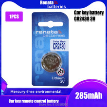 1 unidades/pacote bateria de lítio 3v cr 2430 da moeda da pilha das baterias dl2430 br2430 do botão de renata cr2430 para o brinquedo eletrônico do relógio remoto