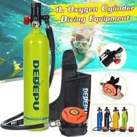 DEDEPU Oxygen Cylinder Scuba Diving Tank Respirator Breath Valve Diving Equipment Set for Underwater Training Entertain