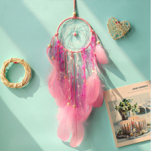 Dream Catcher Wind-Chimes Hanging-Decoration Feather-Crafts Bedroom Scandinavian-Style