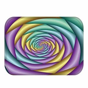 Image 5 - Tapis de sol épais en velours, tapis de sol décoratif pour hôtel, tapis de porte de cuisine, tapis de salle de bain.