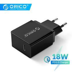ORICO 18W PD2.0 rodzaj usb C ładowarka szybkie ładowanie PD 2.0 szybka ładowarka dla iPhone 11Pro iPhone 11Pro Max xiaomi Huawei|Ładowarki do telefonów komórkowych|Telefony komórkowe i telekomunikacja -