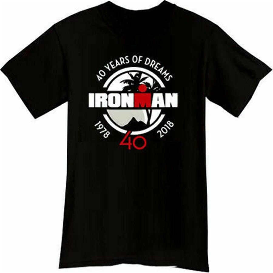 40 Years Of Dreams Ironman Triathlon Black Mens Tshirt Short Sleeve S-2XL T-Shirt Brand Clothing