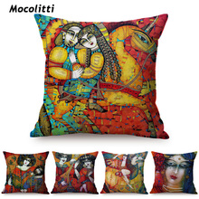 Funda de almohada decorativa de lujo con pintura al óleo abstracta Pieta DE RELIGIÓN