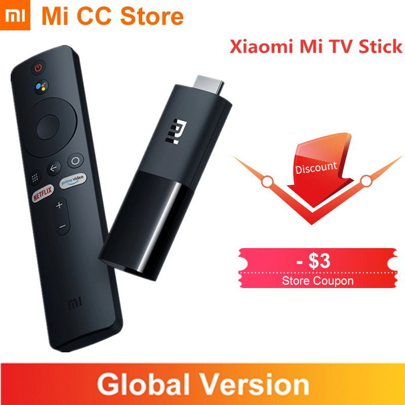 In Stock Global Version Xiaomi TV Stick 2K HDR Android TV 9 0 Wifi Google Assistant TV Dongle 1GB 8GB Bluetooth 4 2 Mi TV Stick
