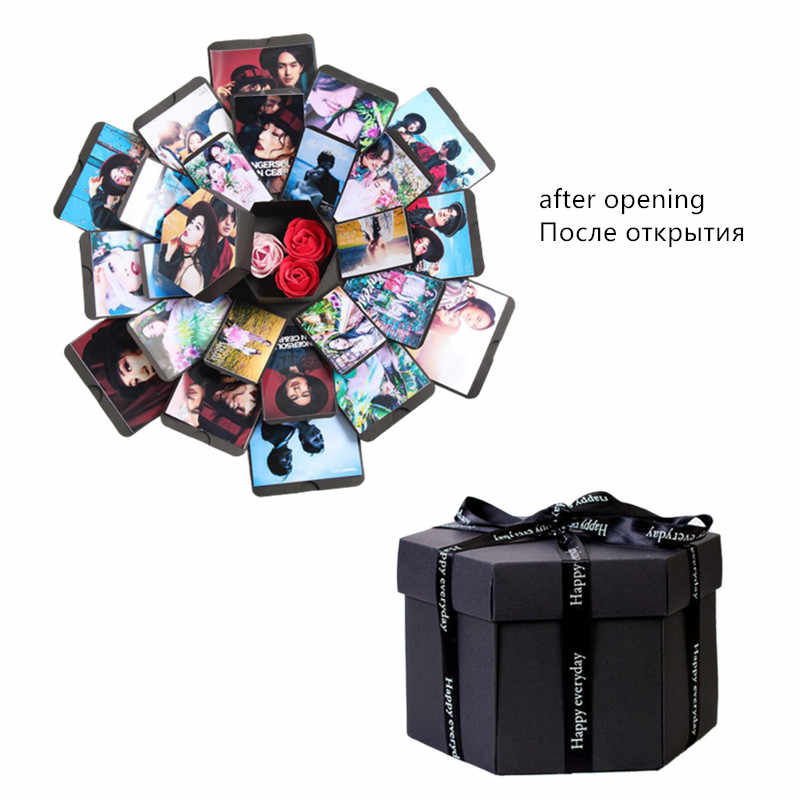 Surprise Party Love Explosion Gift Box Explosion DIY Scrapbook Photo Album Birthday Gift  for Anniversary Birthday dropship
