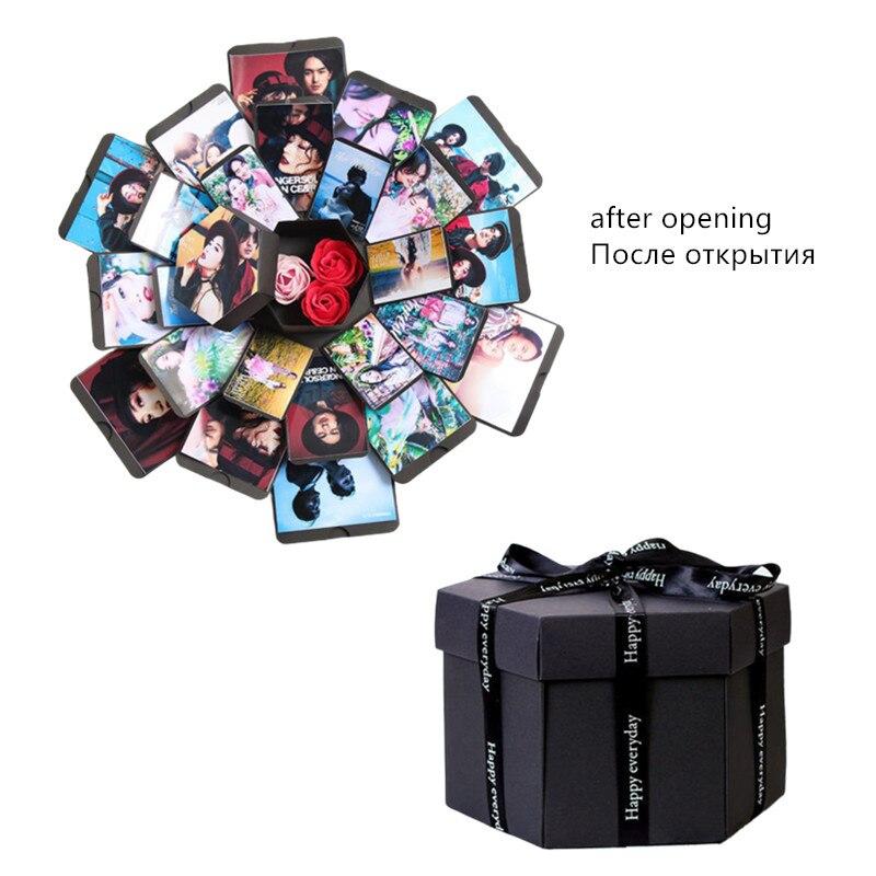 Творческий сюрприз, подарок DIY Love Explosion Box идеи Свадьба День рождения взрыв коробка фотоальбом для юбилей день Святого Валентина день