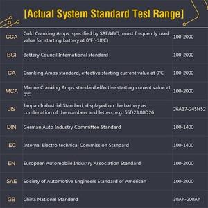 Image 5 - TOPDON AB101 Tester batteria per auto 12V voltaggio Test batteria analizzatore caricabatterie automobilistico 2000CCA Tester di ricarica per auto a gomito