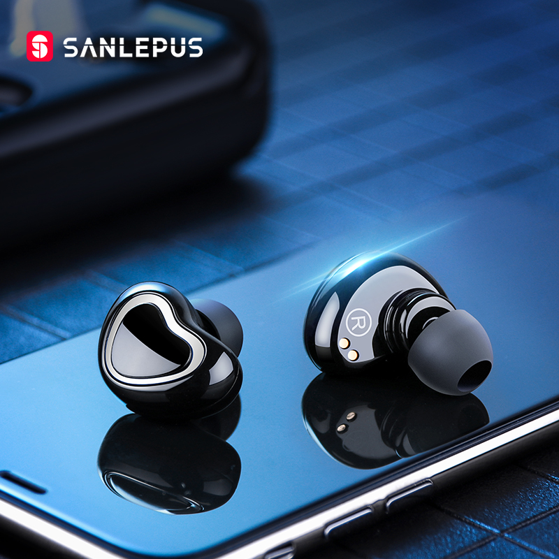 SANLEPUS Bluetooth Earphones Wireless Headphones Dual Mini Earbuds TWS 5.0 Handsfree Headset With Mic For Phones xiaomi Samsung rockspace eb30