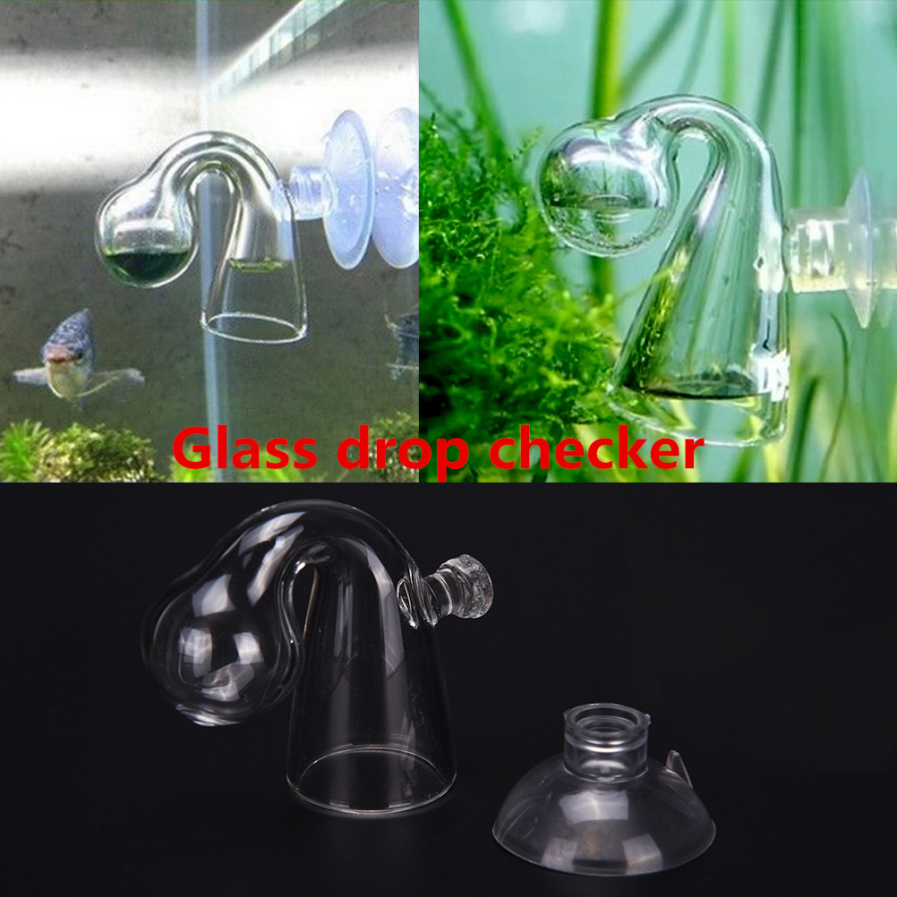 Glass CO2 Drop Checker Carbon Dioxide PH Ball Long Term Indicator Monitor Tester Fish Tank Water Live Moss Plant Aquarium Notes image
