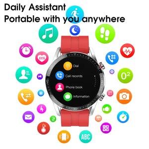 Image 2 - L13 montre intelligente moniteur de fréquence cardiaque hommes femmes Smartwatch IP68 étanche Fitness Tracker sport Bluetooth appel PK DT98 DT78
