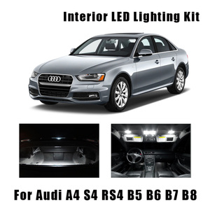 White Canbus Error Free LED Bulbs Interior Dome Map Reading Light Kit For 1996-2015 Audi A4 S4 RS4 B5 B6 B7 B8 Trunk Mirror Lamp(China)