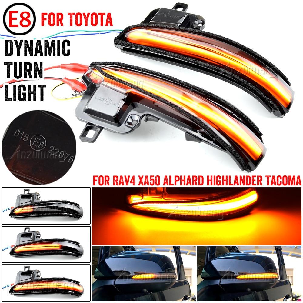 Боковое зеркало светодиодный динамический сигнал поворота светильник последовательного для Toyota Alphard/Vellfire Tacoma N300 RAV4 XA50 Highlander XU70 2020