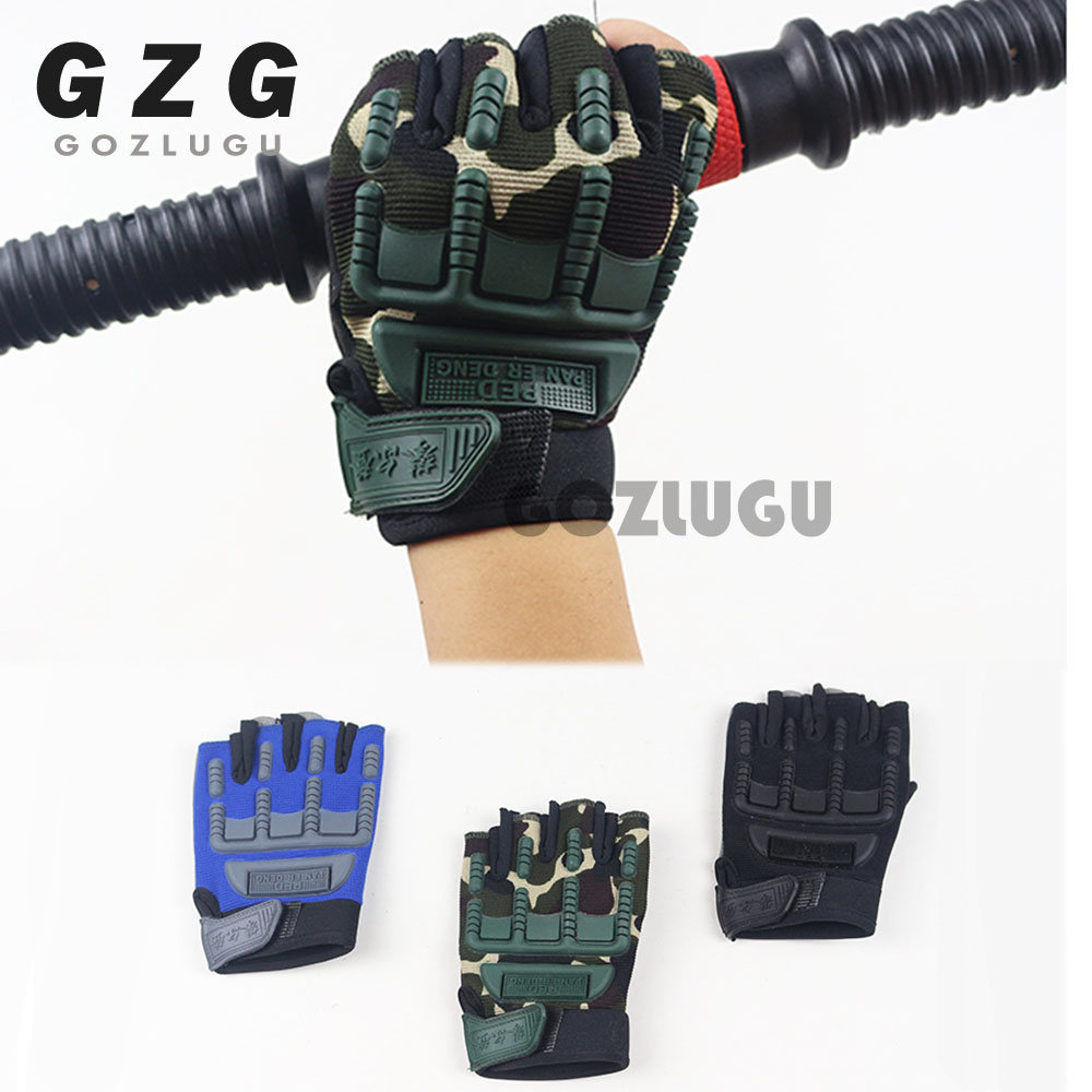 Kids Tactical Fingerless Gloves For 5-13 Years Old Military Armed Anti-Skid Sports Outdoor Half Finger Boys Girls Gloves R010