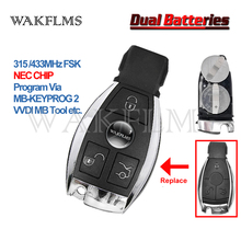3 Buttons 315&433MHz NEC Smart Remote Key Fob for Mercedes Benz A B C Class 2000 2014 WIthout Panic