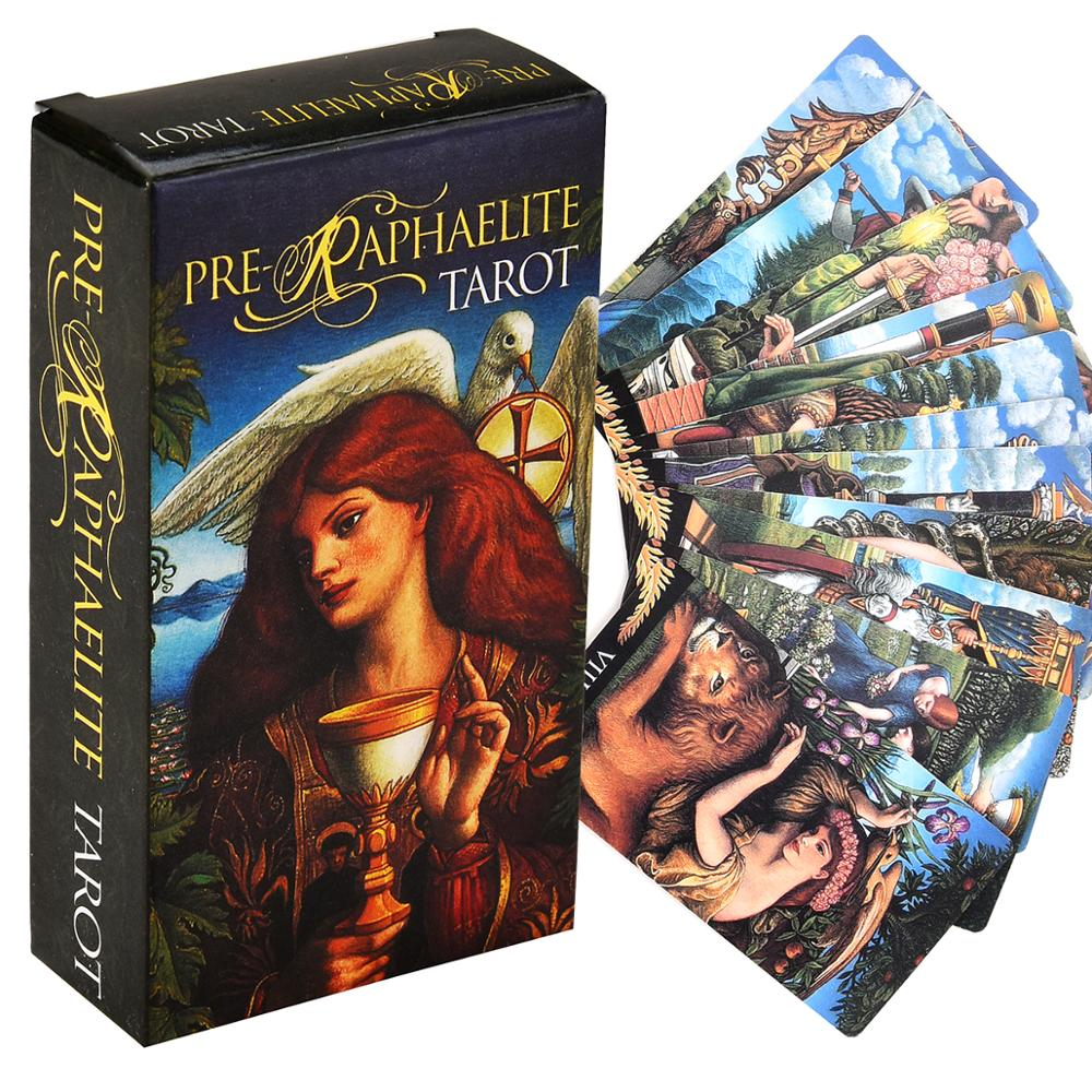 Pre-Raphaelite Tarot Cards Deck Oracles Divination Sealed New Cards Game Board Party Guidance Toy