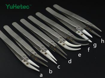 Head changeable ceramic tweezers, high temperature acid alkali corrosion,  resistance wire DIY tool